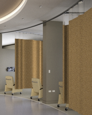 Our Cubicle Curtains Are Manufactured Flat And Typically Sized Roximately 10 Wider Than The Track Length Unless Specified Otherwise